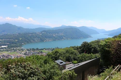 terreno con vista lago e progetto approvato