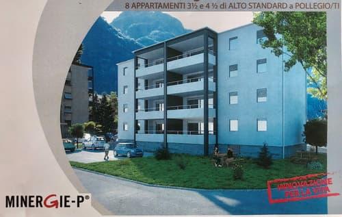 Palazzina a Pollegio - Nuova costruzione - Minergie-P - 8 appartamenti