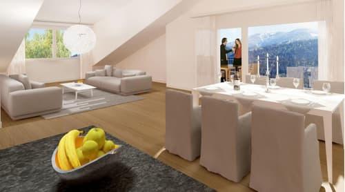 3 1/2 Zimmer-Dachwohnung in MALIX - bezahlbarer Wohnraum ganz in der Nähe von Chur