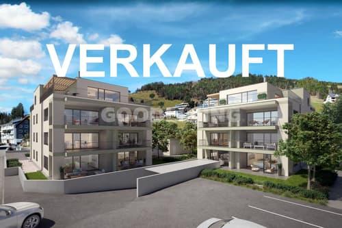 Projekt:2021Süd«4½Zi Erdgeschosswohnung mit atemberaubender Bergsicht»