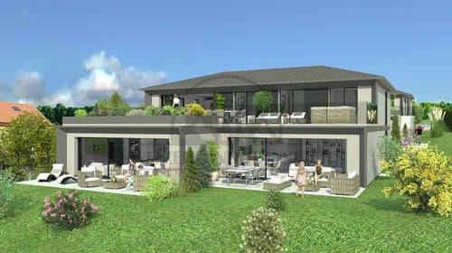 Magnifiques et spacieux 4,5 pcs avec  terrasse et jardin à Seiry Lully