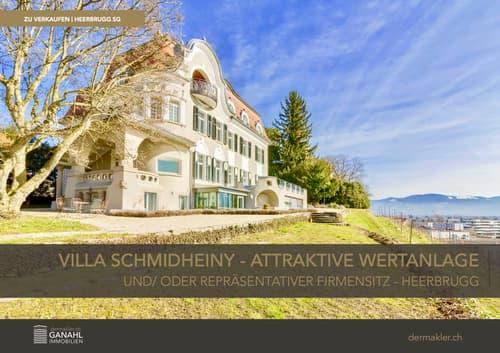 Villa Schmidheiny – Attraktive Wertanlage oder repräsentativer Firmensitz