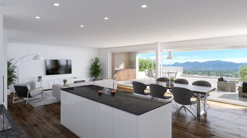 NEU: Fantastische 4.5 Zi.-Terrassenhaus mit Outdoor-Küche und Fernsicht