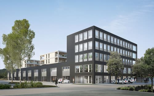 """Gewerbehaus """"Tägerhardmatte"""" Wettingen - Repräsentative Gewerbeflächen zu verkaufen (individueller Ausbau möglich)"""