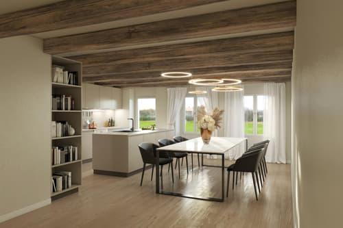 Salavaux : A vendre dans une ancienne Bâtisse de 1935, 3 appartements de 4.5 à 6.5 pièces en triplex sont à vendre dès CHF 645'500.- (1)