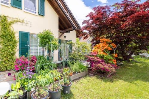 Jardin arborisé et verdoyant
