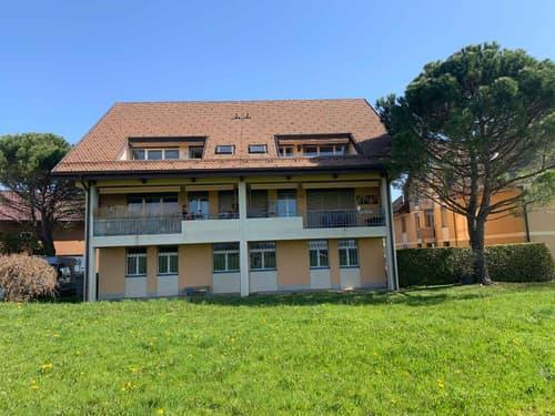 Plein sud et jolie vue dégagée, duplex de 4 pièces, env. 140 m2 en attique avec balcon