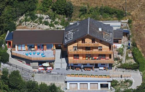 Total renoviertes Hotel-Restaurant an Traumlage bei Leukerbad