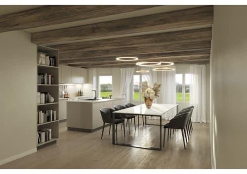 Salavaux : A vendre dans une ancienne Bâtisse de 1935, 3 appartements de 4.5 à 6.5 pièces en triplex dès CHF 645'000.-. (1)