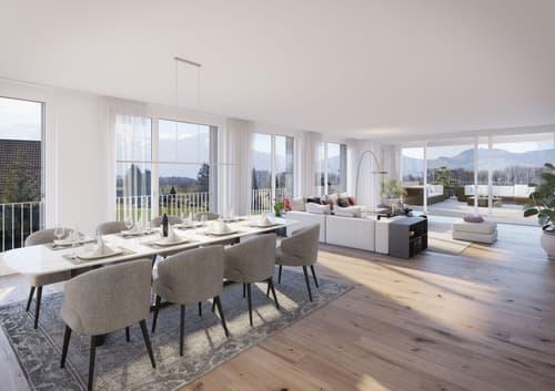 Luxus-Penthouse-Wohnung mit einmaliger & unverbaubarer Aussicht ins Grüne!