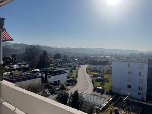 Ausblick über Gossau, ruhig, Abendsonne (1)