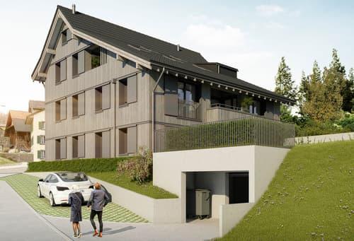 Neubau: Bijou 4 ½-Zimmer-Dach-Maisonette-Wohnung (1)