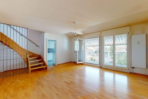 Grosszügige 3.5-Zimmer-Duplexwohnung mit Balkon und Galerie