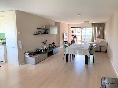 5.5 Zi-Wohnung mit 150 m2 Wfl. und 32 m2 Terrassen, an sonniger Lage mit Aussicht