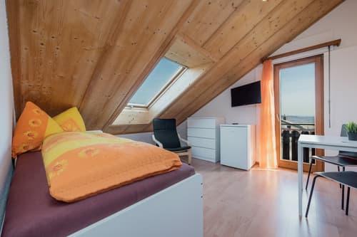 Vollausgerüstetes, möbliertes WG-Zimmer mit Balkon / TV / Internet (Zimmer 1)