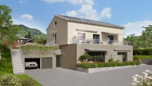 Appartement neuf avec belle vue sur le lac, jardin privatif, terrasse et balcon