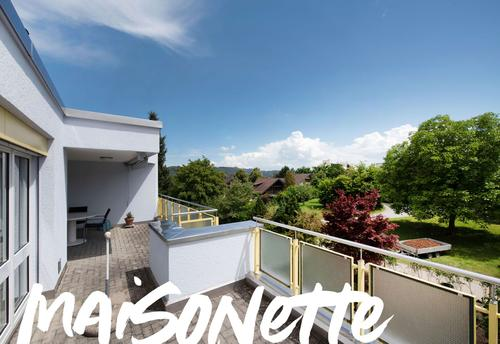 Gepflegte Maisonettewohnung mit Attikaterrasse und Blick ins Grüne