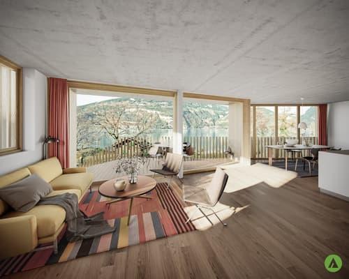 """4½-Zimmer-Geschosswohnung in grandioser Architektur - """"Am See Leissigen"""""""