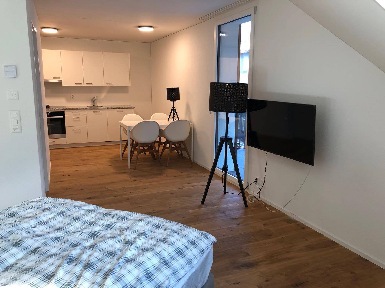 Vermietung: helle, möblierte Wohnung mit Balkon