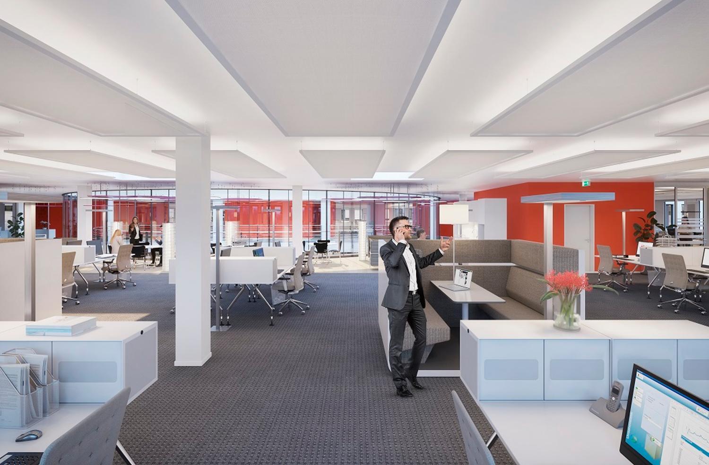 Ausgebaute und bezugsbereite Büros