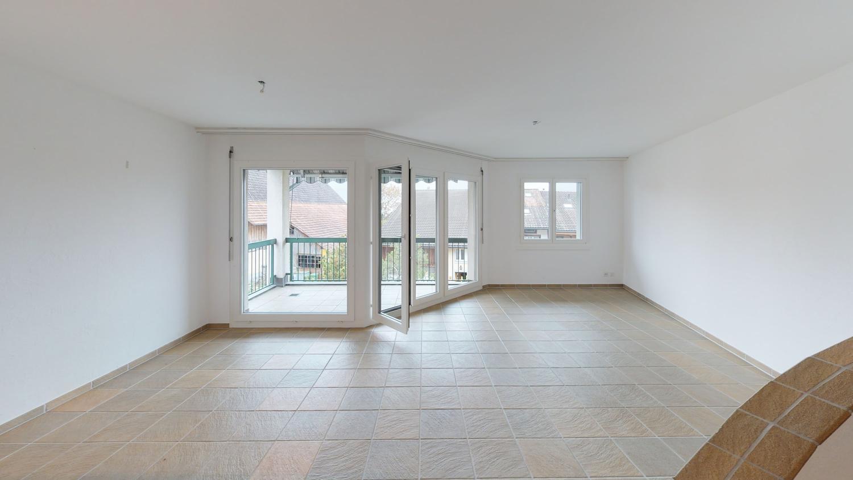 Maisonette-Wohnung, Balkon mit herrlicher Weitsicht
