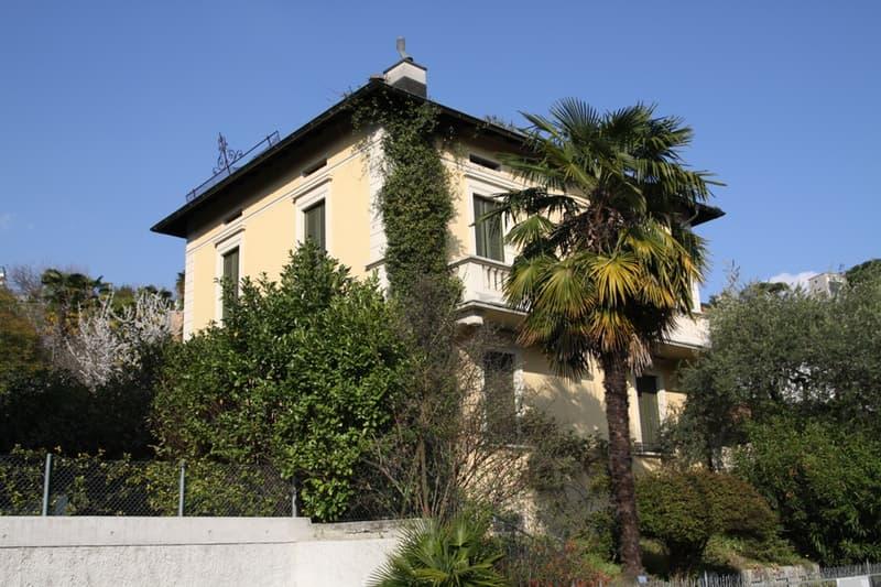 Villa d'epoca, ca. 300 mq SUL, ottime dimensioni, piacevole giardino, ampliamento possibile