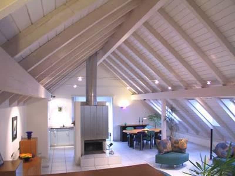 Grosse 140m2, sonnige 4 1/2 Zi Dachwohnung mit Cheminée und schönem Balkon