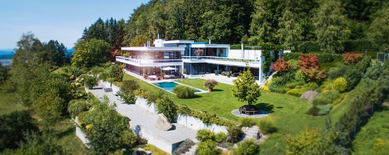 Spektakuläre Luxusvilla mit Swimmingpool - zwischen Zug und Zürich