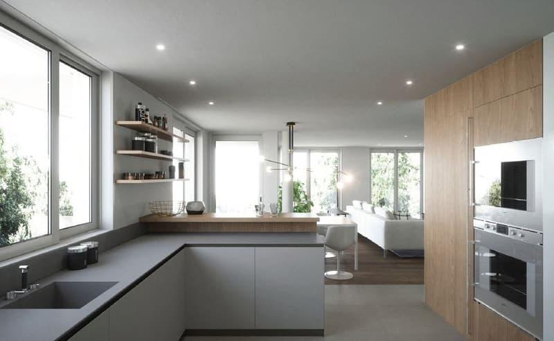 Appartement neuf avec jardin, Minergie, centre du village (2)