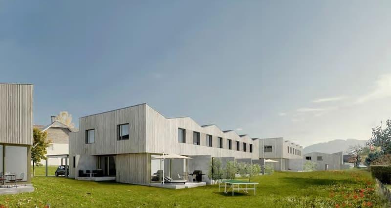 Maison sur plan, 3 ou 4 chambres,  terrasse, jardin, dans le village!