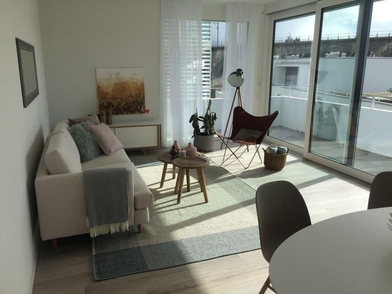 Appartement moderne de 3.5 pièces au rez-de-chaussée