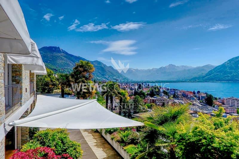 Luxus-Wohnung in Locarno-Muralto mit Blick auf den Lago Maggiore