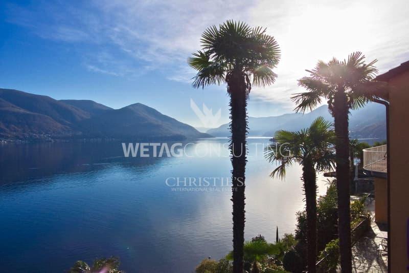 Einmaliges Grundstück in Ascona mit privatem Strand am Lago Maggiore