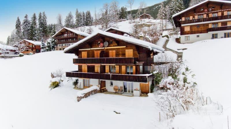 GriwaTreuhand_Immobilien_Kaufen_Grindelwald_Chalet Grindelwaldgletscher_Winter