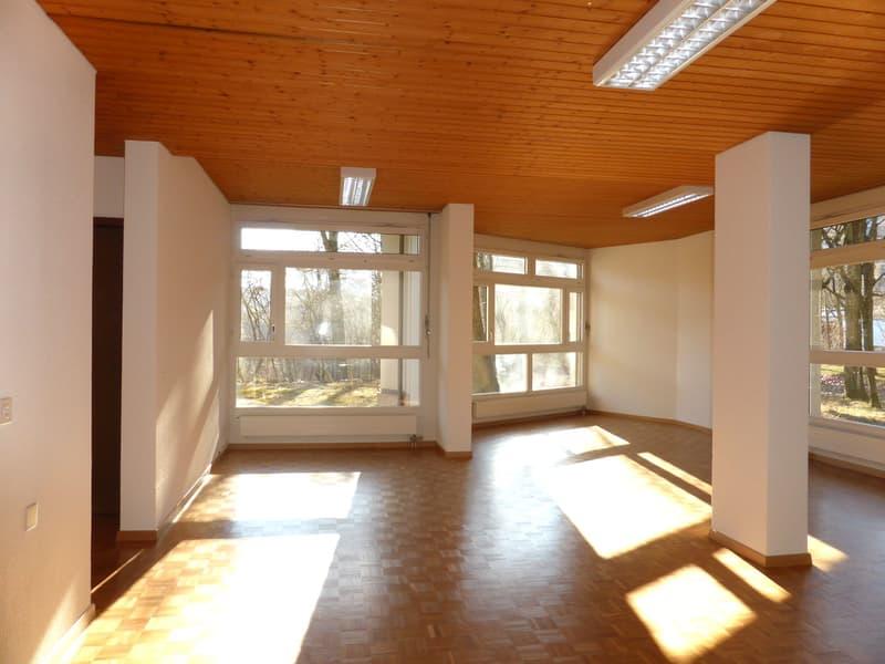 Lichtdurchflutete Praxis-, Therapie-, Atelier- oder Büroräume mit grossem Sitzplatz