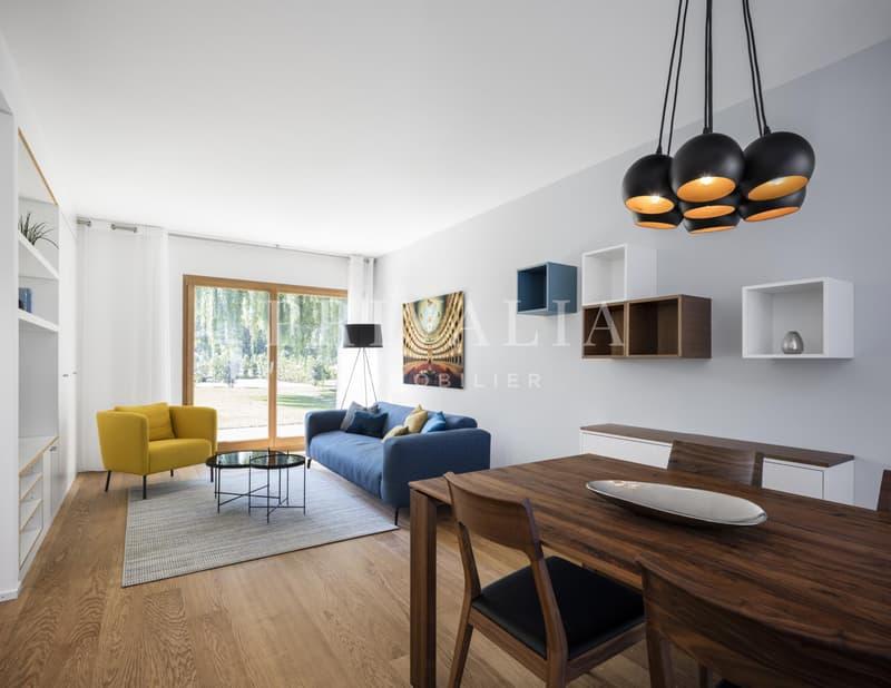Magnifique appartement neuf meublé en rez de jardin