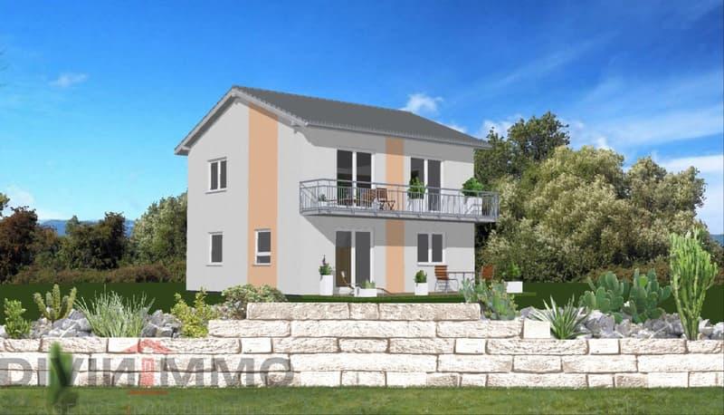 Villa individuelle de 5.5 pièces sur une belle  parcelle de 893m2