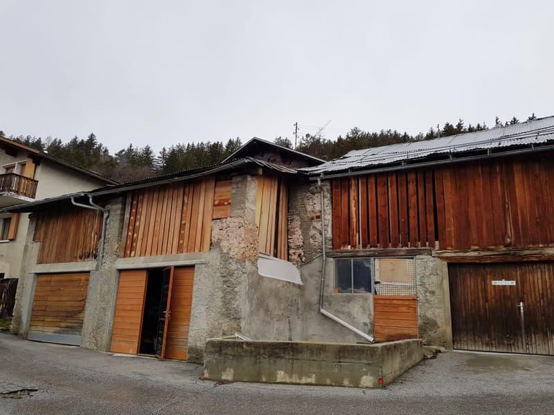 Grange à rénover - 520 M2 aménageables - Chermignon - EXCLUSIVITE