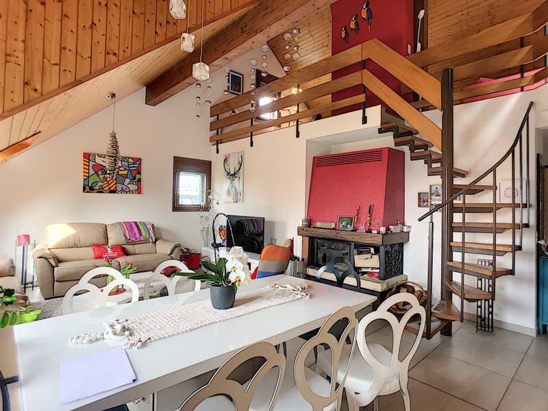 Appartement de 4.5 pièces aux combles avec grande mezzanine