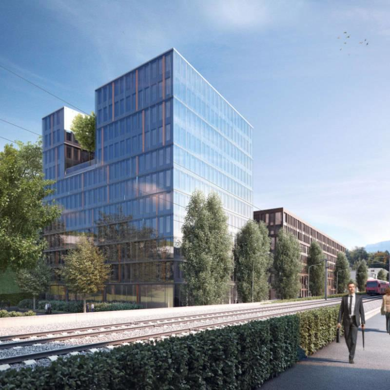 GREENCITY OFFICES - Aussenvisualisierung Pergamin I