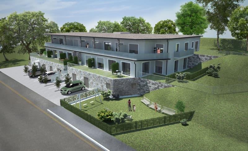 Nuovo 4,5 locali con giardino e terrazzo a Cadempino
