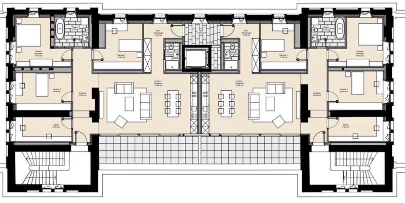 In locazione attici 5 1/2 locali 2P - Stazione FFS Locarno (2)