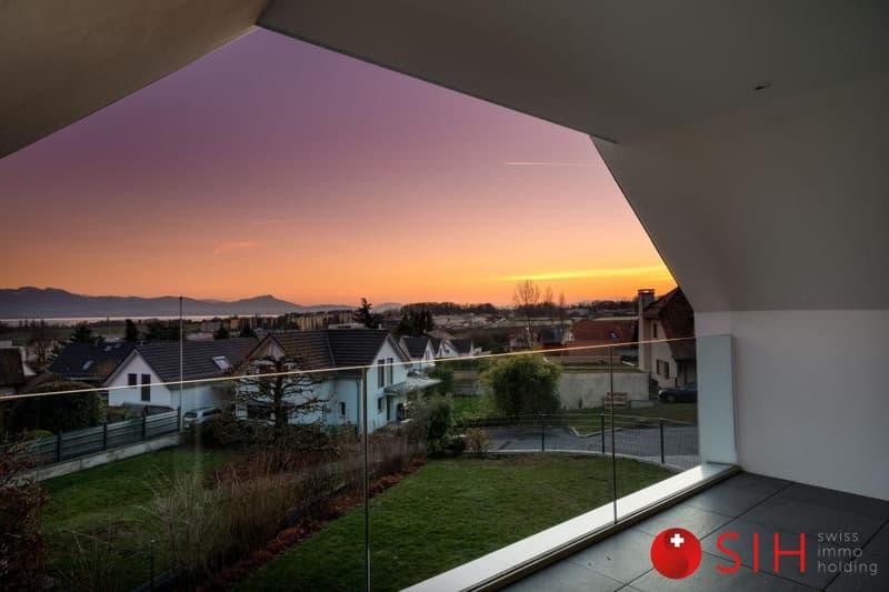 Région Morges magnifique  appartement en attique de 4,5 pièces de standing, dans un petit immeuble moderne, aux standards énergétiques élevés, constitué de 2 superbes appartements.