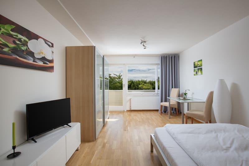 Möbliertes Appartement zentral und doch im Grünen