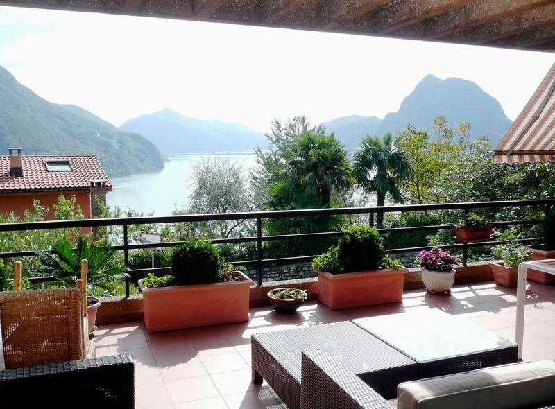 LUGANO-RUVIGLIANA Appartamento 4,5 locali con giardino e vista lago