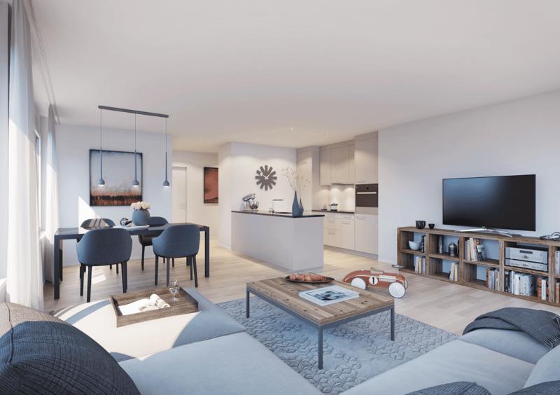 Küche-/Wohnbereich
