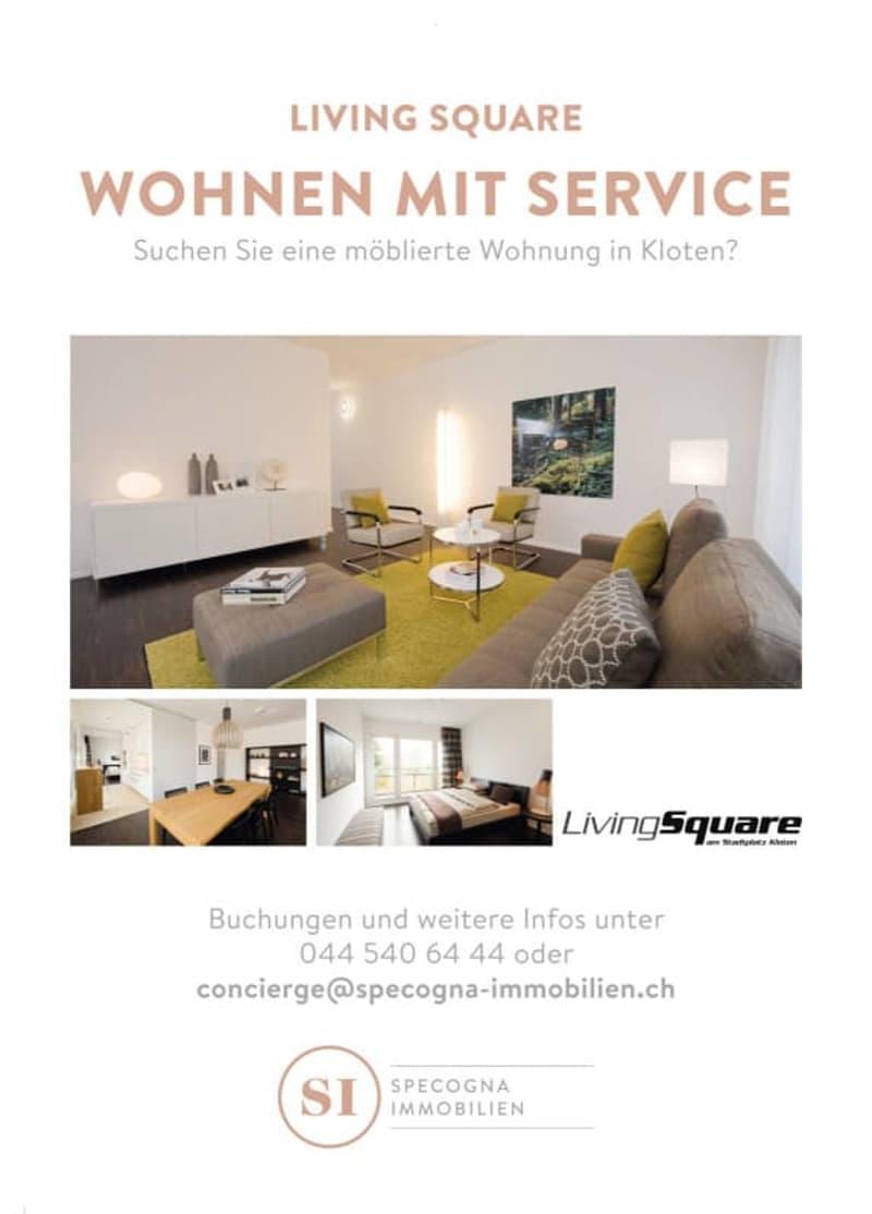 Möblierte Wohnung mit Concierge Service, 3.5 Zimmer