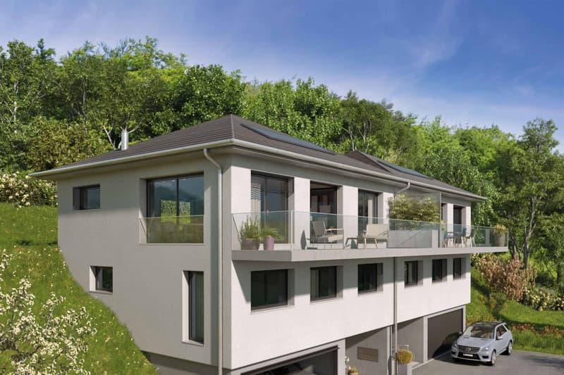 Belle villa jumelle de 4.5 pièces à construire au Bouveret