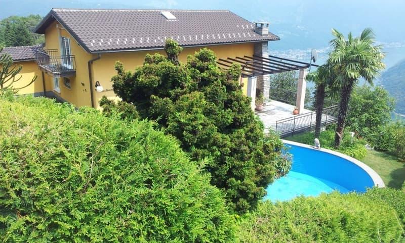 Villa con piscina e vista mozzafiato sul Lago di Lugano