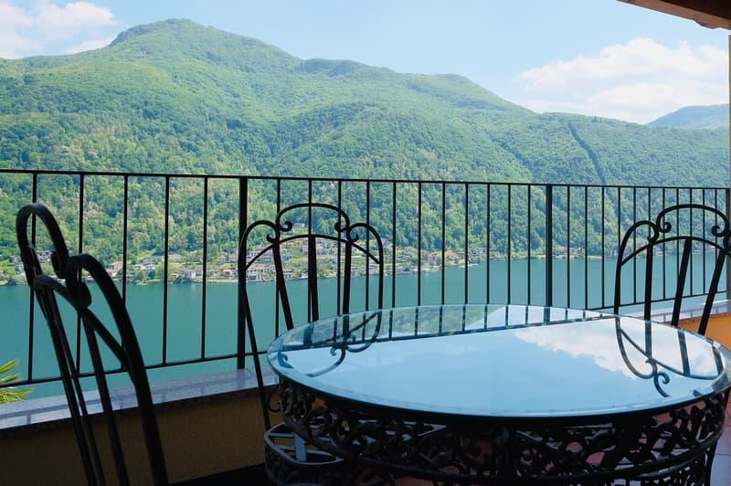 Romantica villa con una meravigliosa vista lago